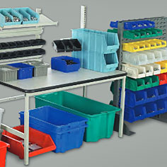 Miscellaneous Equipment: Hoppers, Casters, Ladders, Bins & Totes, Ergonomic & Safety Matting
